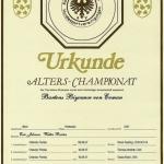 Biyounce ALTERS-CHAMPIONAT Certificate