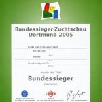 Djuke Bundessieger Certificate