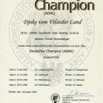 Djuke ADRK Certificate