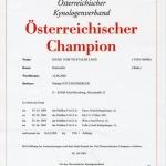 DJUKE Austrian Championship Certificate