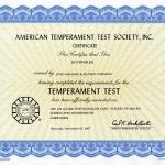 DJUKE Temperament Test Certificate